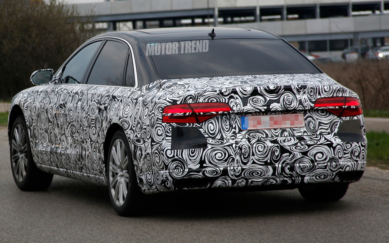 Spied Refreshed Audi A8 Prepping For 2014 S Class